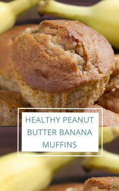 Peanut Butter Muffins, Healthy Peanut Butter, Peanut Butter Banana, Creamy Peanut Butter, Banana Recipes, Muffin Recipes, Breakfast On The Go, Fall Baking, Sweet Recipes
