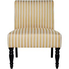 apartment AH Bradstreet Armless Chair in Cottage Stripe Marigold Yellow