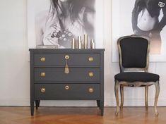 Dresser As Nightstand, Indoor, Bedroom, Interior, Furniture, Art Deco, Design, Home Decor, Robin