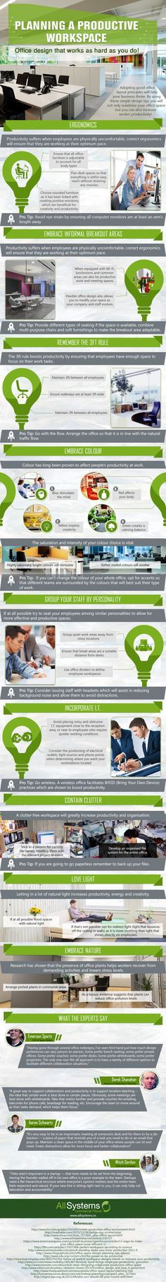 How to Plan A Productive Workspace Infographic - Note: Startups need an open concept structure where everyone's work matters and the entire team feels respected and valued. Plan A, How To Plan, Green Zone, Thing 1, Super Dad, Co Working, Office Workspace, Display Design, Open Concept