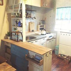 『賃貸のDIYしたキッチン』|LIMIA (リミア)
