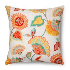 Floral Throw Pillow - Multi-Colored – Threshold™