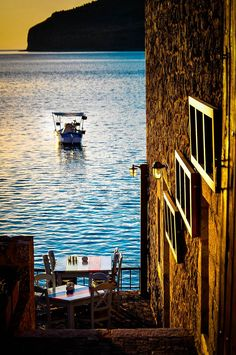 """lagarconnierebbsalerno: """"gyclli: """" Sunset at Areopoli, Laconia- Greece Τελωνείο ΙΙ / BySpiros Vathis """" www.it La Garçonniere Bed and Breakfast de Charme in Salerno - Amalfi Coast """" Santorini, Mykonos Greece, Paros, Places To Travel, Places To See, Beautiful World, Beautiful Places, Myconos, Places In Greece"""