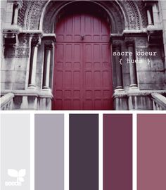 Color Palette - Paint Inspiration- Paint Colors- Paint Palette- Color- Design Inspiration painting Color Palette: Deep Purple, Blackberry, and Aubergine