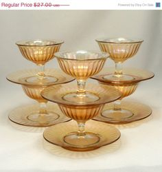 ON SALE Imperial Clambroth Smooth Rays Dessert Set by charmings, $24.30