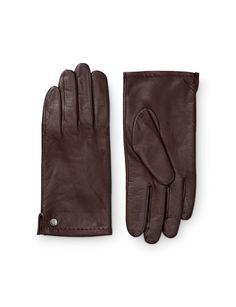 Women's glove in leather nappa. Features split at side and metal stud with Tiger of Sweden logo. Fully lined. Women's Gloves, Tiger Of Sweden, Logo, Metal, Hats, Leather, Logos, Logo Type