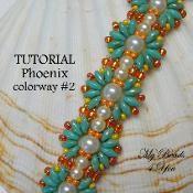 Phoenix Beadwoven Bracelet Colorway #2 - via @Craftsy