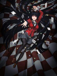 yumeko jabami anime kakegurui manga android wallpapers zerochan casino dessins imagenes hyakkaou personnages ak0 kawaii chicas dibujos trident personajes meme