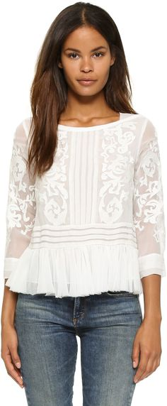 Shop for Rebecca Taylor Pop Paisley Top at ShopStyle. Skirt Mini, Floral Crop Tops, Paisley Pattern, Rebecca Taylor, White Women, White Tops, Ideias Fashion, My Style, Womens Fashion