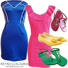 Retro Colours! <3 ‪#‎ResortWear‬ ‪#‎RetroColours‬ ‪#‎Trends‬ ‪#‎Trending‬ ‪#‎LabelMansion‬ Shop www.labelmansion.com