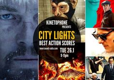 CITY LIGHTS Radioshow: BEST ACTION-THRILLER SCORES 2015 City Lights, Scores, Thriller, Action, Community, Film, Board, Movie Posters, Fictional Characters