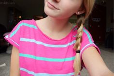 striped shirt and side braid. I Love Fashion, Teen Fashion, Passion For Fashion, Fashion Styles, Tumblr Quality, Braids For Short Hair, Tumblr Fashion, Outfit Goals, Cute Shirts