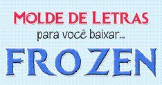 Molde De Letras do filme Frozen