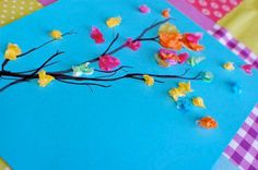 cute quick tissue paper craft for kids