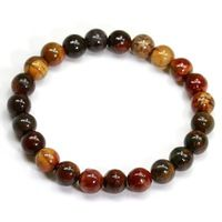 Zebra Stone Healing Bracelet Stretch 8mm Natural Stone Jewelry Bead Bracelet For Unisex Men Strand Strand Bracelet