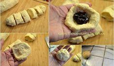 Αφράτα ψωμάκια γεμιστά με μαρμελάδα - cretangastronomy.gr Garlic, Tacos, Mexican, Vegetables, Breakfast, Ethnic Recipes, Food, Morning Coffee, Veggies