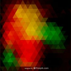 Triangle abstract vector design