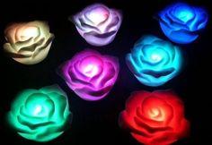 7 Renk Değiştiren Led Işıklı Romantik Gül   tuhafbakkal