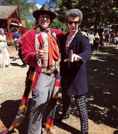Pin for Later: 28 Doctor Who Costume Ideas For Couples That Are Fantastic The Fourth and Twelfth Doctors