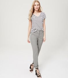Primary Image of Petite Cropped Skinny Chinos in Marisa Fit