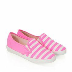 Slip On Stripes Pink White / Obuwie damskie - www.StyloweButy.pl