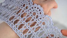 Crochet Lace Edging, Crochet Borders, Easy Crochet, Lace Patterns, Crochet Patterns, Crochet Videos, Beautiful Crochet, Crochet Projects, Crochet Necklace