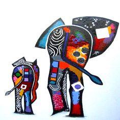 Olifant art projects in 2019 art, animal art projects, painting. Acrylic Canvas, Canvas Art, Animal Art Projects, Elephant Art, Animal Design, Fabric Art, African Art, Painting Inspiration, Textile Art