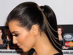 Chain hair piece! #kardashian