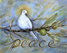 Peace Dove Mounted Art Print Bird Art Peaceful Art Dove and | Etsy | Peace  art, Bird art, Dove painting