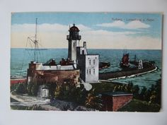 1920, Euro, Painting, Interwar Period, Sailing Ships, Lighthouse, Painting Art, Paintings, Painted Canvas