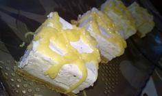 Osvěžující citronové cheesecake řezy s vanilkou