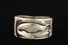 Eagle sterling silver ring by Erich Glendale.   Northwest coast art and First Nations Art at Ahtsik Native Art Gallery.