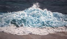 Photorealistic Pastel Drawing of the Maldives by Zaria Forman