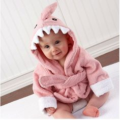 Let the Fin Begin Pink Shark Robe from PoshTots