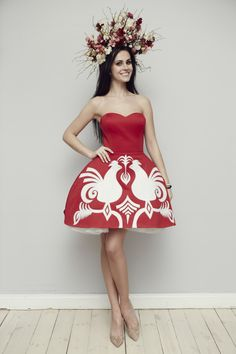 Marcela Chmielowska - sukienka folk