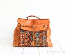 Vintage Weekender // Bag // Leather // Kilim // von heimatbaum, €180,00