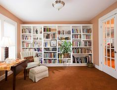 Home office/library.  Yes please!  Love the french doors too.