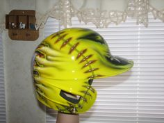 This helmet is for softball and it is cool                                                        #softballhelmet