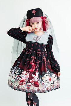 Royal Princess Alice - Dark Night Hospital ((black x red)) #gurololita