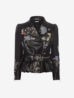 Shop Women's Cross Stitch Leather Jacket from the official online store of iconic fashion designer Alexander McQueen.