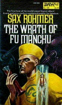 186 Sax Rohmer The Wrath of Fu Manchu Jack Gaughan Cool Books, Sci Fi Books, My Books, Book Cover Art, Comic Book Covers, Book Art, Pulp Fiction Book, Fiction Novels, Paperback Writer