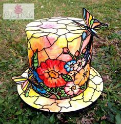 Stained glass window cake!