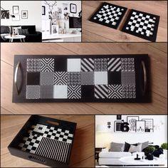 Black & White mood! A nova coleção SBI também tem peças inspiradas no clássico preto e branco, aliado aos padrões geométricos. Estilo clássico ou moderno, o elegante black&white é sempre uma ótima opção! Para orçamento e informações, entre em contato via miluzartedesign@gmail.com. #miluzartesemimos