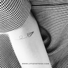 Flying Paper Plane Temporary Tattoo (Set of 3) – littletattoos Map Tattoos, Rose Tattoos, Travel Tattoos, Tattoo Set, I Tattoo, Coordinates Tattoo, Skyline Tattoo, Compass Rose Tattoo, Fly Paper