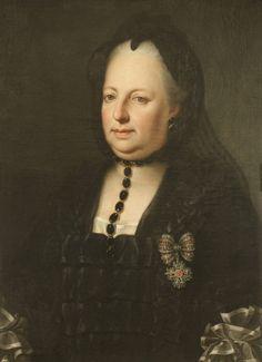 : Anton von Maron (?): Maria Theresia in Witwentracht, Ölgemälde, um 1772