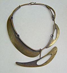 Necklace | Art Smith, ca 1955. Patina brass: Love, love, love Art Smith!