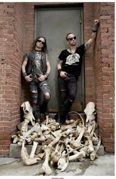 Erik Danielsson, Watain (l) and Nergal, Behemoth (r) - black metal's apex predators, and the trophy stack to prove it!