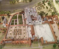 (Model of Richmond Palace). Learn about the death, burial and tomb of Elizabeth I as we go beneath the floor of Westminster Abbey and reveal the hidden secrets from inside the vault. Richmond Palace, Richmond London, Old London, London History, Tudor History, British History, History Medieval, Local History, Ancient History