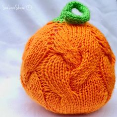 Cutie Cable Pumpkin Knitting pattern by SeeLoveShare