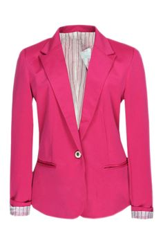 #Romwe Single-breasted Rose Blazer